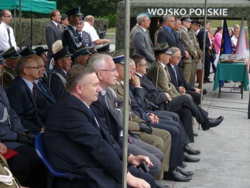 Uroczyste obchody Święta Wojska Polskiego przy Pomniku Żołnierza Polskiego w Katowicach
